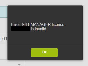 File manager vesta license problem